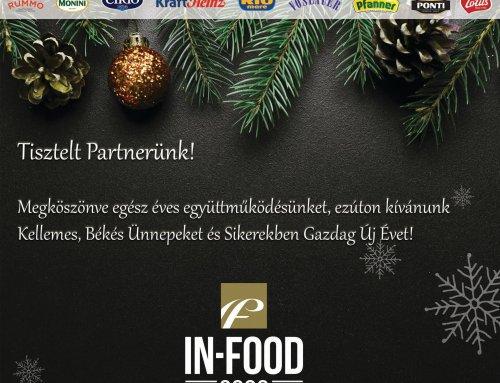 Boldog Karácsonyt kíván az In-Food csapata