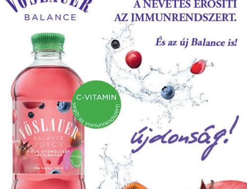Új Vöslauer Balance Juicy piros gyümölcsök echinaceaval és C-vitaminnal. Ne hagyd ki!