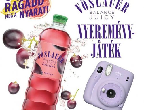 Nyerj Instax Mini fényképezőgépet a Vöslauer Balance Juicy-val!